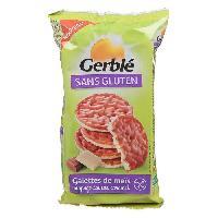 Pates - Riz - Cereales - Legumes Secs GERBLE Galettes de Mais Saveur Caramel Sans Gluten - 95 g