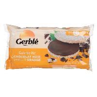 Pates - Riz - Cereales - Legumes Secs GERBLE Galettes de riz au chocolat orange 130.4g