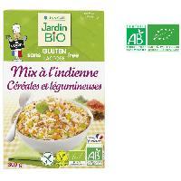 Pates - Riz - Cereales - Legumes Secs JARDIN BIO Mix a l'indienne de céréales et légumineuses bio - 300 g