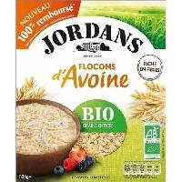 Pates - Riz - Cereales - Legumes Secs JORDANS Flocons d'Avoine Bio Grains entiers 500 g