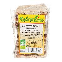 Pates - Riz - Cereales - Legumes Secs MOULIN DES MOINES Galettes de blé bio - Nappées de chocolat et de noisette - 150 g