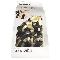 Pates Alimentaires FRANPRIX Farfalles Rayees Noir et Blanc 200 g