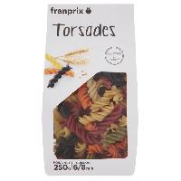 Pates Alimentaires FRANPRIX Torsades Multicolores 250 g