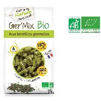 Pates Alimentaires INSTANTS NATURE Pates aux lentilles germees bio Ger'mix bio - 320 g