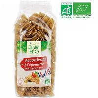 Pates Alimentaires Pates Accordeons a l'Epeautre bio - 500 g