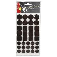 Patin - Embout - Feutre Patin adhesif feutre marron - 105 pcs