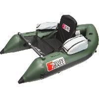 Peche SEVEN BASS FLOAT TUBE - SKULLWAY 1.70M - Hybrid Line - Vert - -1.70M- - avec support moteur