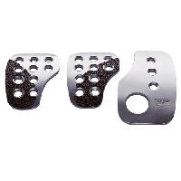Pedaliers Kit 3 pedales Racing Top F1 Argent