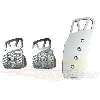 Pedaliers Kit 3 pedales Style pour BMW Argent - OMP