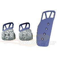 Pedaliers Kit 3 pedales Style pour BMW Bleu