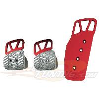Pedaliers Kit 3 pedales Style pour BMW rouge - OMP