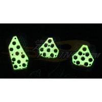 Pedaliers Kit pedalier lumineux - NA150YW - Jaune - 12V - ADNAuto