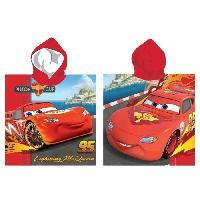 Peignoir - Sortie De Bain  (hors Puericulture) CARS Poncho Microfibre - 55 x 110 cm - Rouge - Aucune