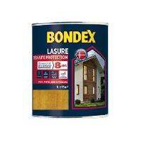 Peinture - Revetement Mur Sol Plafond BONDEX Lasure Haute protection 8 ans - Chene Clair Satin. 1L