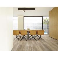 Peinture - Revetement Mur Sol Plafond CORETEC 2.66 m2 - 12 Lames vinyles pvc clipsables 122.2 x 18.2 cm chene grisé . Sous couche liege. Aucune