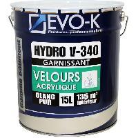 Peinture - Revetement Mur Sol Plafond EVO-K Peinture professionnelle monocouche murs et plafonds Hydro V340 15 L blanc velours