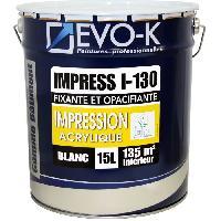 Peinture - Revetement Mur Sol Plafond EVO-K Sous-couche professionnelle plaque de plâtre I-130 15 L blanc mat