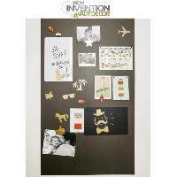 Peinture - Revetement Mur Sol Plafond KIT FERFLEX - Papier peint magnétique 100x60 cm + accessoires