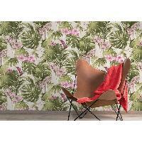 Peinture - Revetement Mur Sol Plafond MGC DECO Papier peint déco - 10x0.53 m - Jungle flower - Aucune