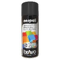 Peinture - Revetement Mur Sol Plafond NESPOLI Aerosol peinture professionnelle effet satine noir 400mL