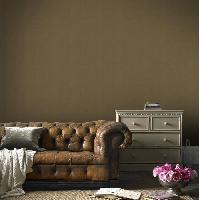 Peinture - Revetement Mur Sol Plafond Papier peint double largeur Enduit Plâtre bronze 104 cm x 10m vinyle textué intissé marron - Aucune