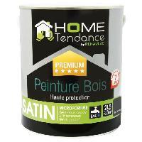 Peinture - Revetement Mur Sol Plafond Peinture bois haute protection 2.5 L gris anthracite satiné - HOME TENDANCE by RENAULAC