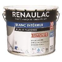 Peinture - Revetement Mur Sol Plafond Peinture murale monocouche 10 L mat blanc extreme - RENAULAC