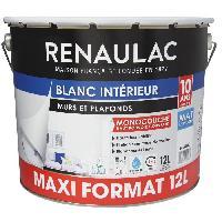 Peinture - Revetement Mur Sol Plafond Peinture murale monocouche 12 L MAT blanc extreme - Lessivable - RENAULAC