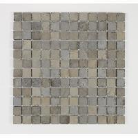 Peinture - Revetement Mur Sol Plafond U-TILE Mosaique en pierre naturelle 30 x 30 cm - carreau 2.5 x 2.5 cm - beige fonce - Aucune