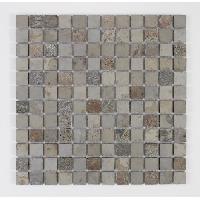 Peinture - Revetement Mur Sol Plafond U-TILE Mosaique en pierre naturelle 30 x 30 cm - carreau 2.5 x 2.5 cm - mixte beige - Aucune