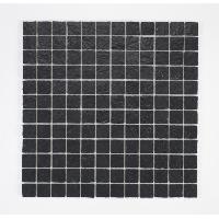 Peinture - Revetement Mur Sol Plafond U-TILE Mosaique en resine imitation pierre 100 x 50 cm - carreau 2.5 x 2.5 cm - noir - Aucune