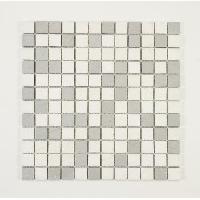 Peinture - Revetement Mur Sol Plafond U-TILE Mosaique en resine imitation pierre 30 x 30 cm - carreau 2.5 x 2.5 cm - mixte blanc et gris clair - Aucune