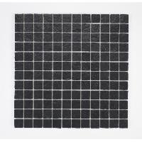 Peinture - Revetement Mur Sol Plafond U-TILE Mosaique en resine imitation pierre 30 x 30 cm - carreau 2.5 x 2.5 cm - noir - Aucune