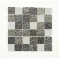 Peinture - Revetement Mur Sol Plafond U-TILE Mosaique mixte resine et pierre 100 x 50 cm - 5 x 5 cm - mixte pierre et resine blanche - Aucune