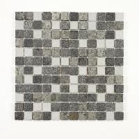 Peinture - Revetement Mur Sol Plafond U-TILE Mosaique mixte resine et pierre 30 x 30 cm - carreau 2.5 x 2.5 cm - mixte pierre resine blanc - Aucune