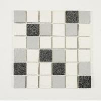 Peinture - Revetement Mur Sol Plafond U-TILE Mosaique mixte resine et pierre 30 x 30 cm - carreau 5 x 5 cm - mixte pierre et resine blanche - Aucune