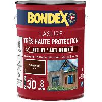 Peinture - Revetement Mur Sol Plafond lasure pour bois trés haute protection 8 ans chene foncé 5L Bondex