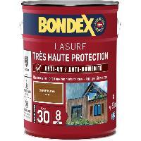Peinture - Revetement Mur Sol Plafond lasure pour bois trés haute protection 8 ans chene moyen 5L Bondex