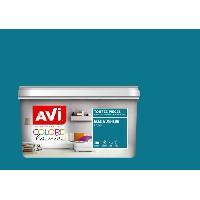 Peinture - Vernis - Traitement (lasure - Effets Decoratifs) AVI Peinture murale Toutes pieces Bleu Bonheur Satin. 2.5L