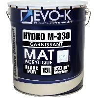 Peinture - Vernis - Traitement (lasure - Effets Decoratifs) EVO-K Peinture professionnelle monocouche murs et plafonds Hydro M330 15 L blanc mat blanc lessivable