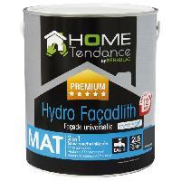 Peinture - Vernis - Traitement (lasure - Effets Decoratifs) Peinture façade universelle Hydro Façadlith hydropliolite 2.5 L gris anthracite mat - HOME TENDANCE by RENAULAC