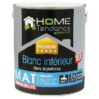 Peinture - Vernis - Traitement (lasure - Effets Decoratifs) Peinture monocouche murale 2.5L blanc mat - lessivable - HOME TENDANCE by Renaulac