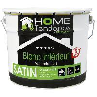 Peinture - Vernis - Traitement (lasure - Effets Decoratifs) Peinture murale 10L blanc satin - lessivable - HOME TENDANCE by Renaulac