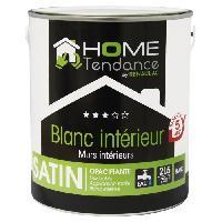 Peinture - Vernis - Traitement (lasure - Effets Decoratifs) Peinture murale 2.5L blanc satin - lessivable - HOME TENDANCE by Renaulac