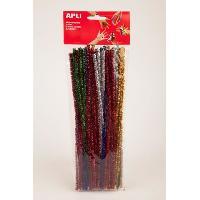 Peinture Aquarelle APLI Sachet de 50 chenilles - Couleurs assorties brillantes - 30 cm