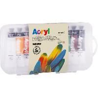Peinture PRIMO 405TA10SP Peinture acrylique fine en tube d'aluminium de 18 ml. 10 couleurs.
