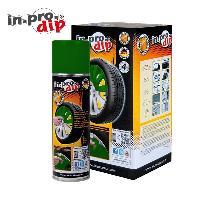 Peintures, Laques & Plastidip InproDip Vert - Film pour jantes - box pour 4 Jantes - 4x300ml - similaire PlastiDip