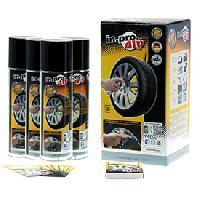 Peintures, Laques & Plastidip Kit sprays film retirable INPRODIP Argent 4x300ml -aerosol- - ADNAuto