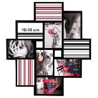 Pele-mele Photo IMAGINE Detroit Cadre multivues - 10 vues - Noir