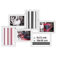 Pele-mele Photo IMAGINE Detroit Cadre multivues - 6 vues - Blanc
